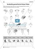 Mathematik, Geometrie, geometrische Formen, alltag, arbeitsblätter
