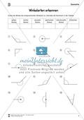 Winkelarten erkennen - spitzer, rechter, stupfer, gestreckter, überstumpfer und Vollwinkel Preview 2