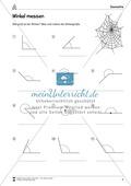 Mathematik, Geometrie, Winkel, Größen & Messen, Raum & Form, Messen, zeichnen