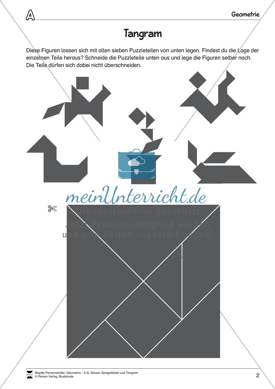 tangram verschiedene figuren aus geometrischen formen nachlegen meinunterricht. Black Bedroom Furniture Sets. Home Design Ideas