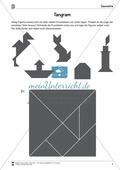 Tangram - verschiedene Figuren aus geometrischen Formen nachlegen Preview 2