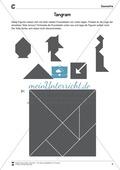 Tangram - verschiedene Figuren aus geometrischen Formen nachlegen Preview 3