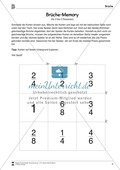 Brüche-Memory - gekürzte und erweiterte Brüche einander zuordnen Preview 1