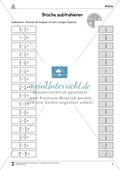 Bruchrechnung: Arbeitsblätter zur Addition und Subtraktion von Brüchen. Mit Lösungen. Preview 2