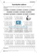 Mathematik, Zahlen & Operationen, Grundrechenarten, Arithmetik, Subtraktion, Dezimalzahlen, addition