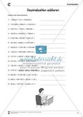 Arithmetik: Übungen zur Addition und Subtraktion von Dezimalzahlen. Mit Lösungen. Preview 5