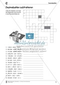 Arithmetik: Übungen zur Addition und Subtraktion von Dezimalzahlen. Mit Lösungen. Preview 6