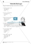 Algebra: Aufgaben und Lösungen zur Korrektur von fehlerhaften Gleichungen Preview 2