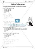 Algebra: Aufgaben und Lösungen zur Korrektur von fehlerhaften Gleichungen Preview 3