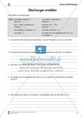 Algebra: Aufgaben und Lösungen zum Erstellen von Gleichungen Preview 1