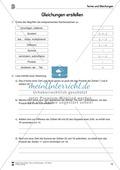 Algebra: Aufgaben und Lösungen zum Erstellen von Gleichungen Preview 2
