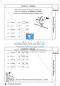 Rechnen mit Größen: Lernzirkel mit einfachen Aufgaben zum Rechnen mit Längeneinheiten Preview 10