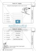 Rechnen mit Größen: Lernzirkel mit einfachen Aufgaben zum Rechnen mit Längeneinheiten Preview 11