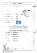 Rechnen mit Größen: Lernzirkel mit einfachen Aufgaben zum Rechnen mit Längeneinheiten Preview 5