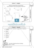 Rechnen mit Größen: Lernzirkel mit einfachen Aufgaben zum Rechnen mit Längeneinheiten Preview 8