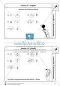 Bruchrechnung: Lernzirkel zur Wiederholung und Festigung der Bruchrechnung Preview 11