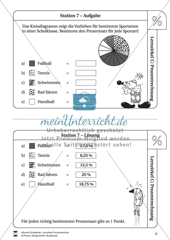 Fantastisch Kreisdiagramm Arbeitsblatt Für Die Klasse 7 Fotos ...