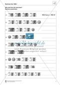 Arithmetik: Aufgaben und Lösungen zum Rechnen mit Geld im Zahlenraum bis 1000 Preview 1