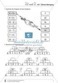 Rechenmauern und Rechenrätsel: Plus und Minus im Zahlenraum bis 20 mit Zehnerübergang wiederholen und festigen Preview 3