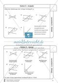 Lernzirkel zu Winkeln: Winkelarten, griechische Buchstaben, Winkel messen und zeichnen, Winkel an Uhr und Windrose Preview 10