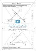 Lernzirkel zu Winkeln: Winkelarten, griechische Buchstaben, Winkel messen und zeichnen, Winkel an Uhr und Windrose Preview 4