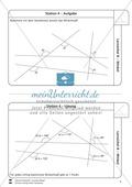 Lernzirkel zu Winkeln: Winkelarten, griechische Buchstaben, Winkel messen und zeichnen, Winkel an Uhr und Windrose Preview 5