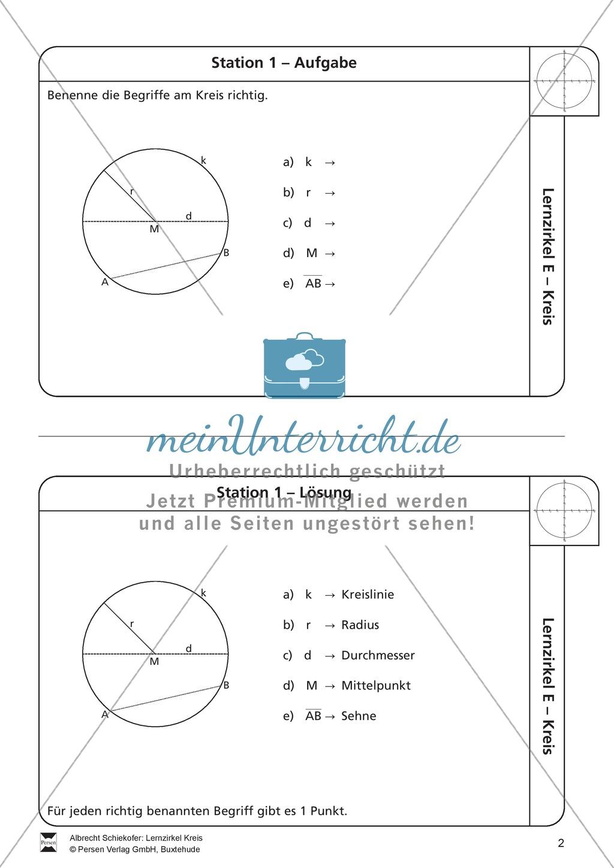 Ziemlich Kreis Geometrie Arbeitsblatt Klasse 11 Bilder - Mathe ...