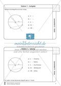 Geometrische Formen: Lernzirkel zum Kreis Preview 2