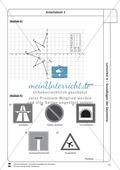 Lernzirkel zu Grundlagen der Geometrie: Koordinatensystem, Spiegelung, Senkrechten und Parallelen, optische Täuschungen Preview 13