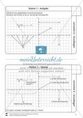 Lernzirkel zu Grundlagen der Geometrie: Koordinatensystem, Spiegelung, Senkrechten und Parallelen, optische Täuschungen Preview 2