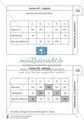 Lernzirkel Subtraktion: Fachausdrücke, Ergänzungen, Vorgänger, Stellenwerttafel, Terme aufstellen Preview 3