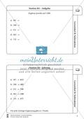 Lernzirkel Subtraktion: Fachausdrücke, Ergänzungen, Vorgänger, Stellenwerttafel, Terme aufstellen Preview 5
