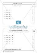 Lernzirkel Subtraktion: Fachausdrücke, Ergänzungen, Vorgänger, Stellenwerttafel, Terme aufstellen Preview 6