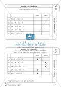 Lernzirkel Division: Fachausdrücke, Teilbarkeit, Division von Zehnerzahlen, Maßstab Preview 6