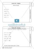 Lernzirkel Division: Fachausdrücke, Teilbarkeit, Division von Zehnerzahlen, Maßstab Preview 7