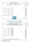Lernzirkel Division: Fachausdrücke, Teilbarkeit, Division von Zehnerzahlen, Maßstab Preview 8