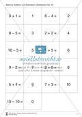 Zahlen bis 10 - Memory: Mengen und Zahlen zuordnen,  Addition und Subtraktion, ergänzen auf 10 Preview 3