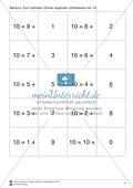 Zahlen bis 10 - Memory: Mengen und Zahlen zuordnen,  Addition und Subtraktion, ergänzen auf 10 Preview 4