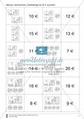 Zahlen bis 20 - Memory: Mengenbilder und Zahlen zuordnen, Vorgänger und Nachfolger, Geldbeträge Preview 3