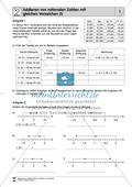 Mathematik, Zahlen & Operationen, Arithmetik, rationale Zahlen, negative Zahlen, addition