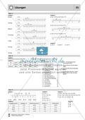 Lernzielkontrolle zu rationalen Zahlen - Zahlengerade, Zahlen ordnen, Differenzen Preview 3