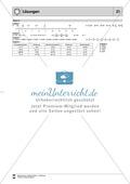 Lernzielkontrolle zu rationalen Zahlen - Zahlengerade, Zahlen ordnen, Differenzen Preview 4