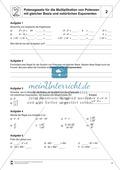 Potenzgesetz für die Multiplikation von Potenzen mit gleicher Basis und natürlichen Exponenten Preview 2