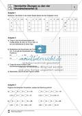 Mathematik, Zahlen & Operationen, Grundrechenarten, funktionaler Zusammenhang, Raum & Form, rationale Zahlen, Koordinatensystem, textaufgaben