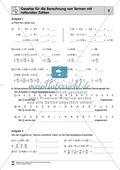 Vorrangregeln und Gesetze für die Berechnung von Termen mit rationalen Zahlen Preview 2