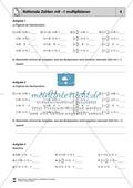 Rationale Zahlen multiplizieren - von der Multiplikation mit natürlichen Zahlen zur Multiplikation mit rationalen Zahlen Preview 4