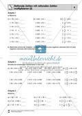 Rationale Zahlen multiplizieren - von der Multiplikation mit natürlichen Zahlen zur Multiplikation mit rationalen Zahlen Preview 6