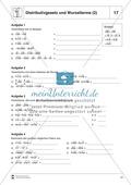 Distributivgesetz und Wurzelterme + Binomische Formeln und Wurzelterme Preview 2