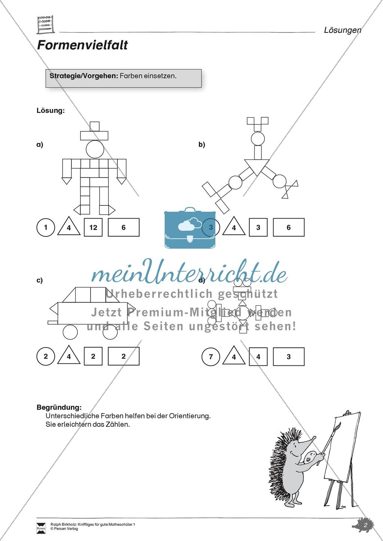 Formen und Muster - geometrische Figuren erkennen und zählen ...