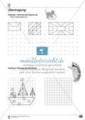 Formen und Muster - Figuren nachzeichnen und vervollständigen Preview 1